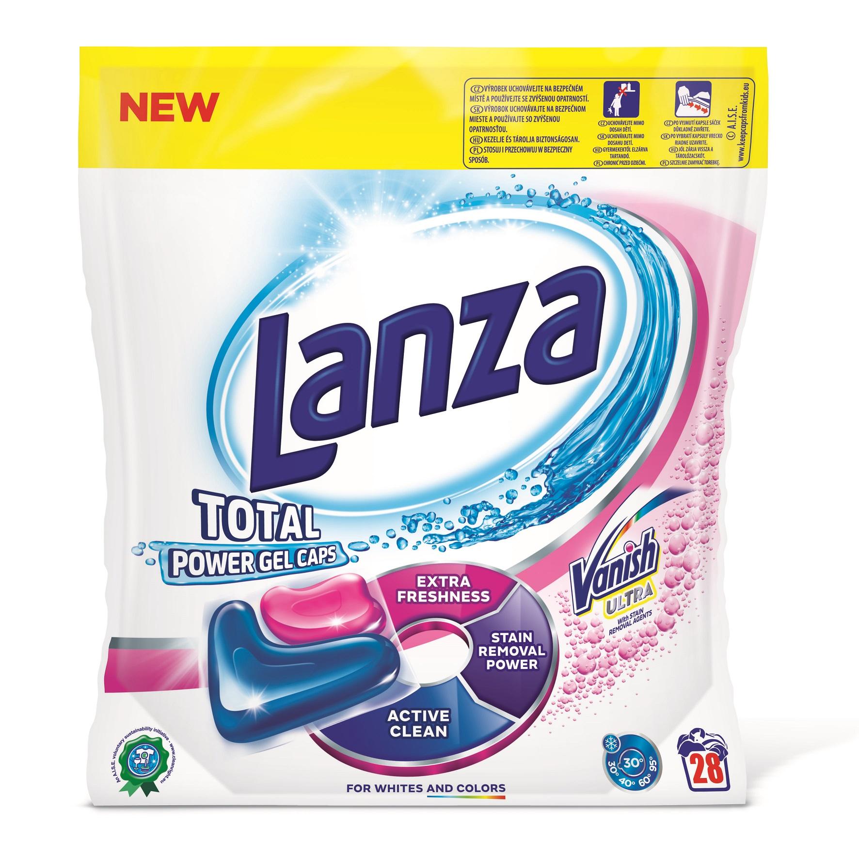 Lanza Total Power gelové kapsle, 28 praní 28 ks