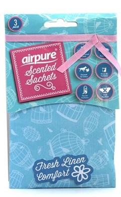 Airpure - vonné sáčky s vůní svěžího prádla 3 ks/bal.