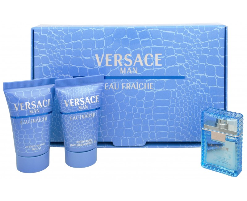 Versace Eau Fraiche Man - toaletní voda 5 ml + sprchový gel 25 ml + balzám po holení 25 ml