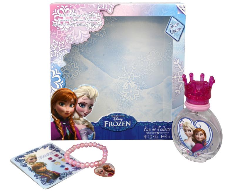 EP Line Disney Frozen - toaletní voda s rozprašovačem 30 ml + nalepovací náušnice + náramek