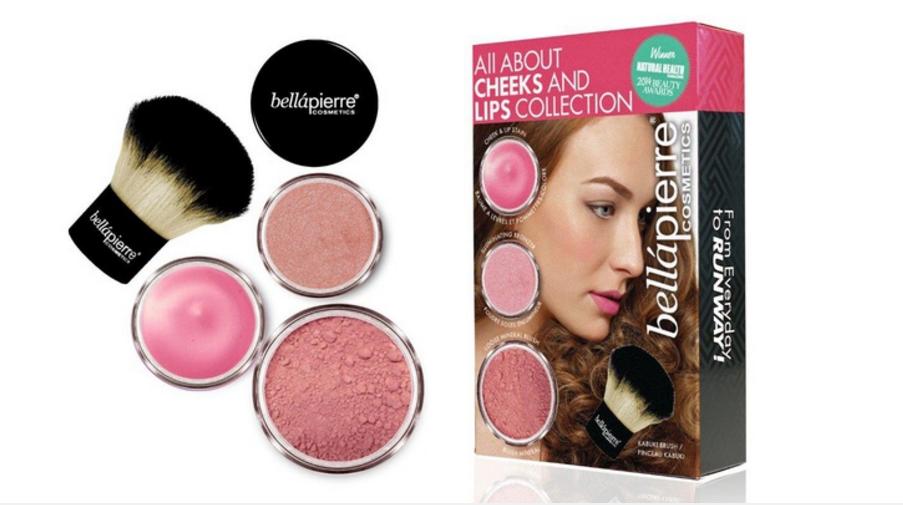 Bellápierre, kosmetická sada na tvář a rty Pink Collection