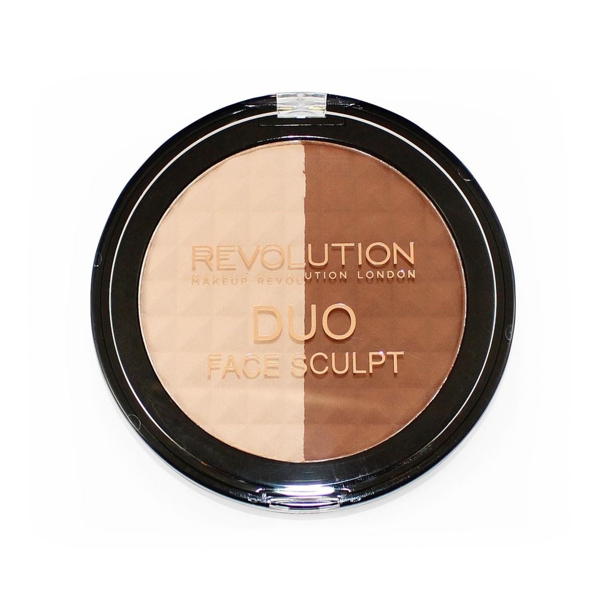 Fotografie Makeup Revolution Duo Face Sculpt, konturovací pudr 15 g