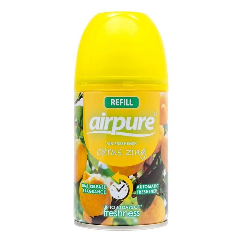 Fotografie Airpure Air Freshener náhradní náplň do osvěžovače Citrus Zing 250 ml