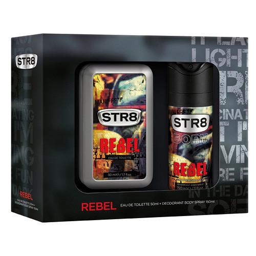 STR8 Rebel toaletní voda s rozprašovačem + deodorant ve spreji 50 ml + 150 ml