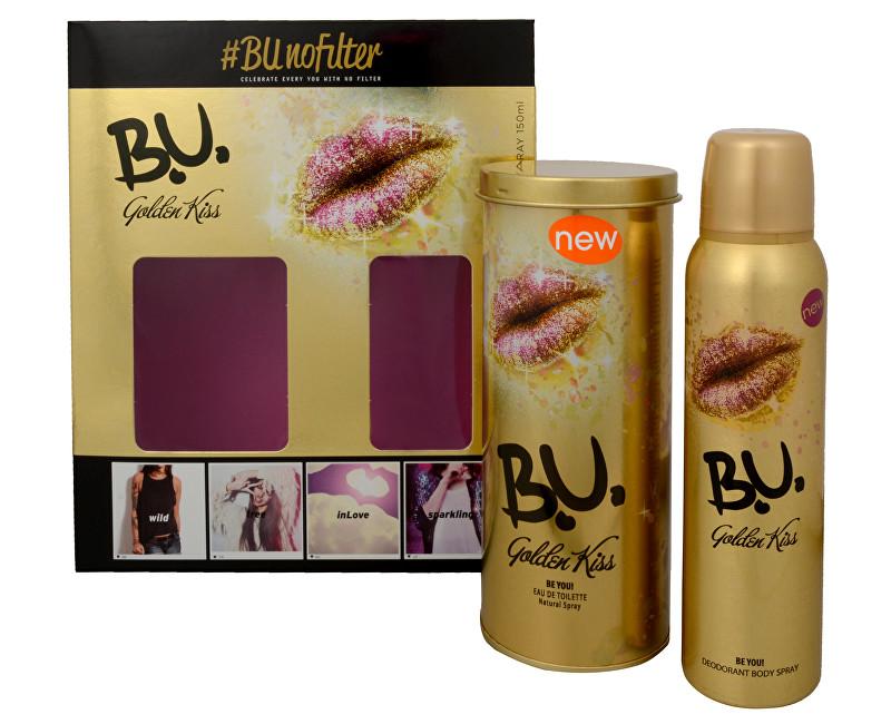 B.U. Golden Kiss toaletní voda + deodorant ve spreji 50 ml + 150 ml