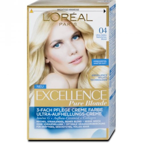 Fotografie L'oréal Paris EXCELLENCE CRÈME barva na vlasy 04 Blond ultra světlá šampaň