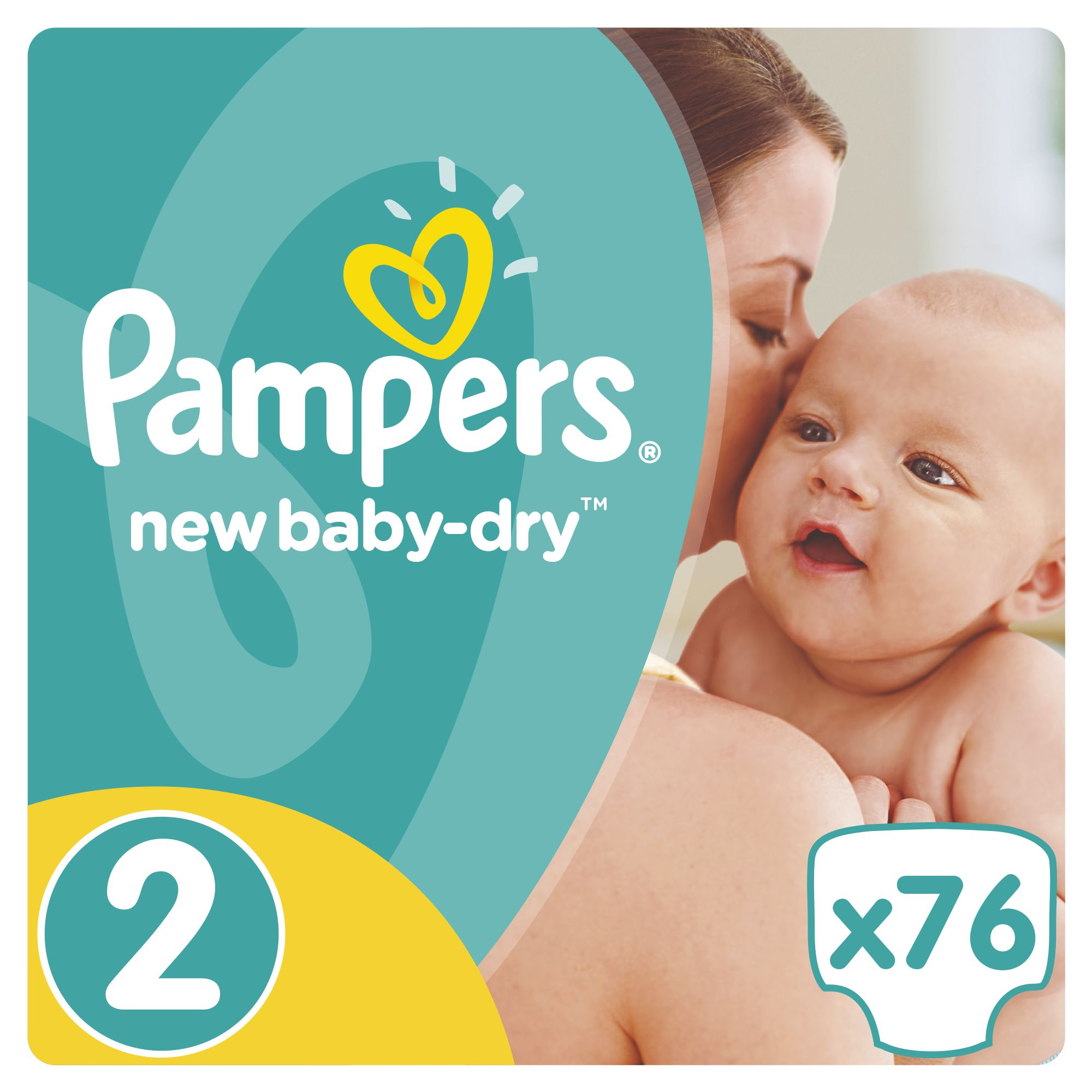 Pampers New Baby-Dry pleny 2 Mini, 3-6 kg 76 ks