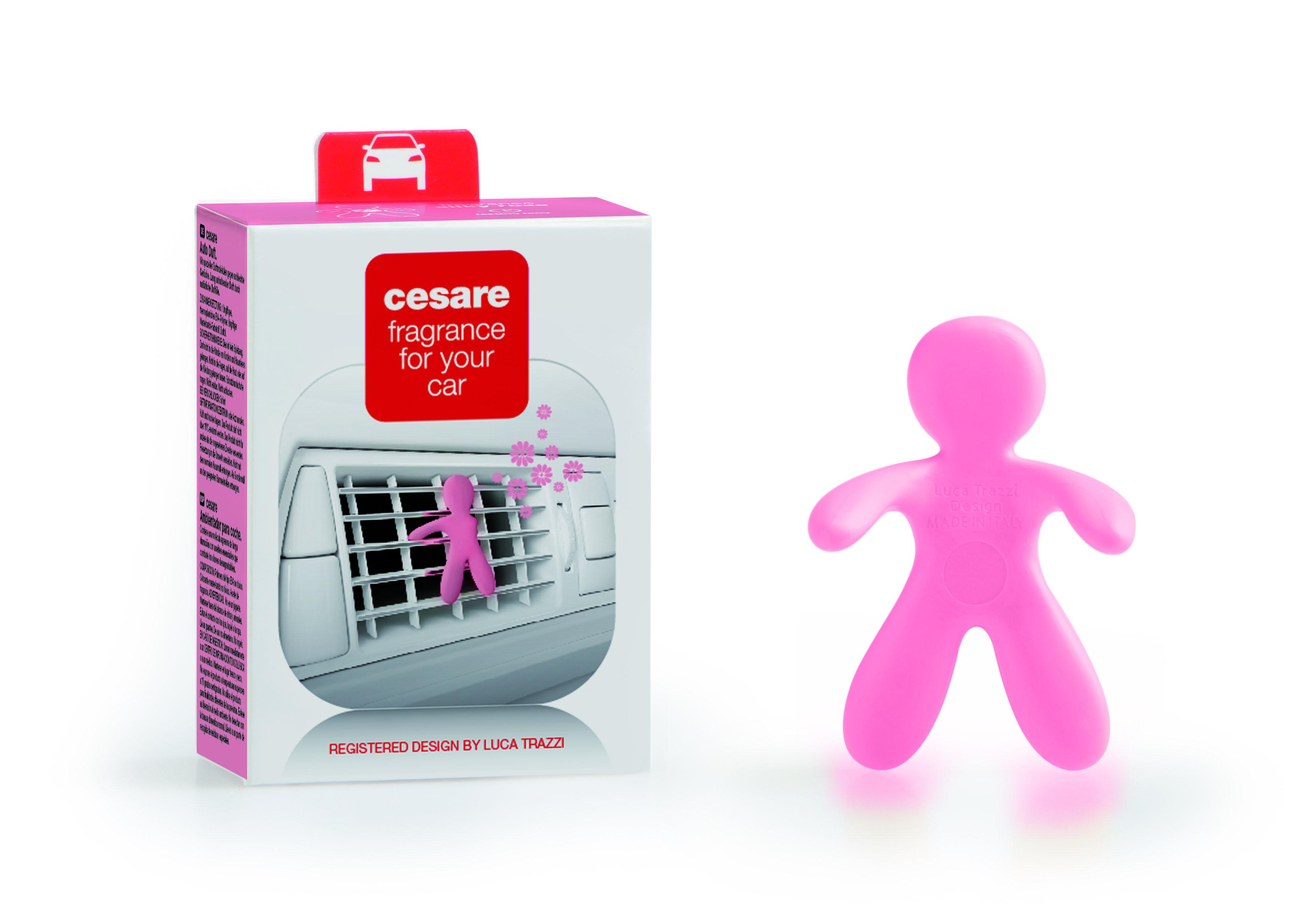 Mr&Mrs Cesare Citrus & Musk (růžový) osvěžovač do auta 1 ks