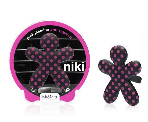 Mr&Mrs Niki BIG Pink Jasmine-Anti Tabaco (černo-růžový) osvěžovač do auta 1 ks