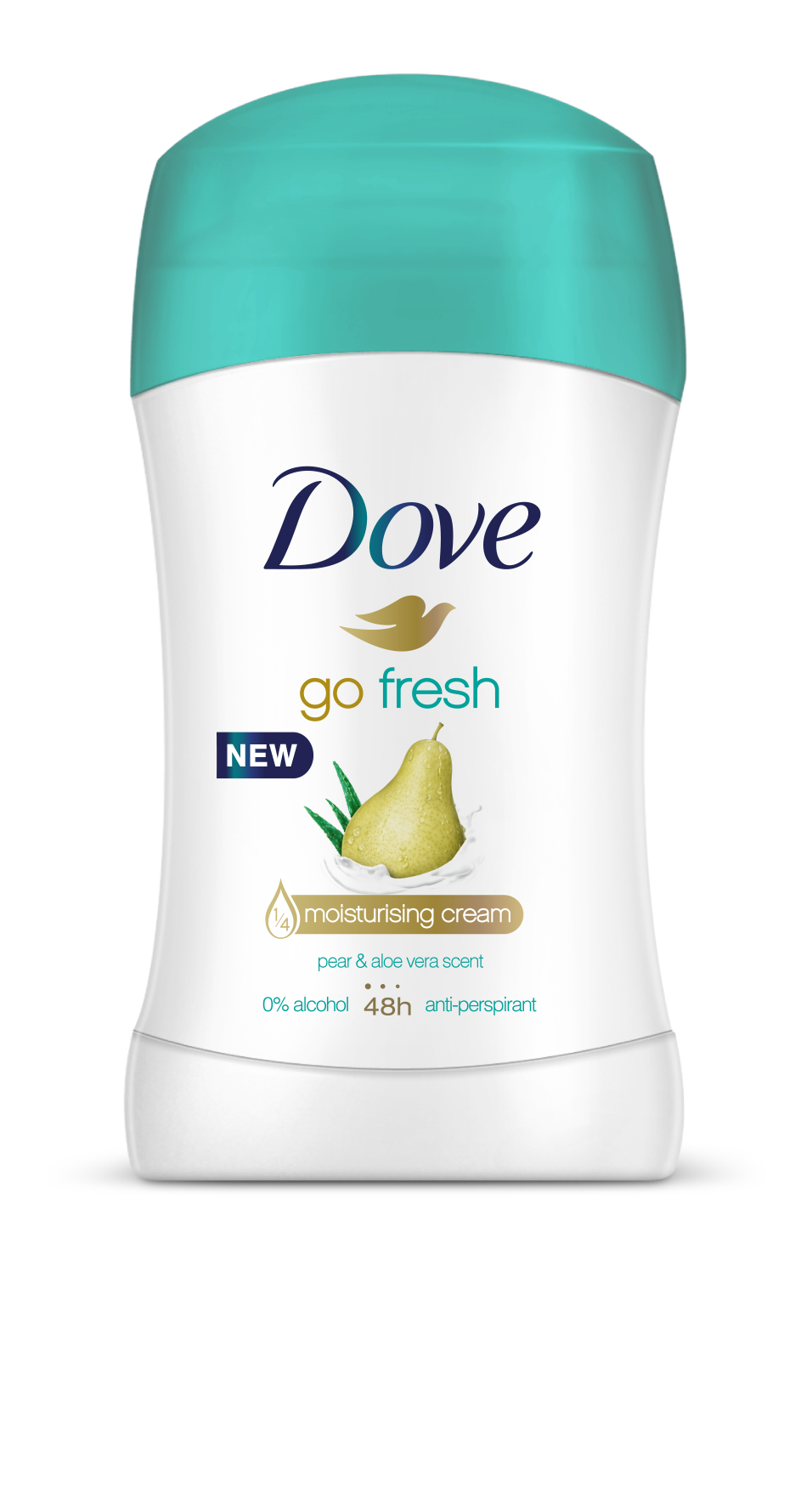 Fotografie Dove Go Fresh tuhý antiperspirant hruška a aloe vera 40 ml