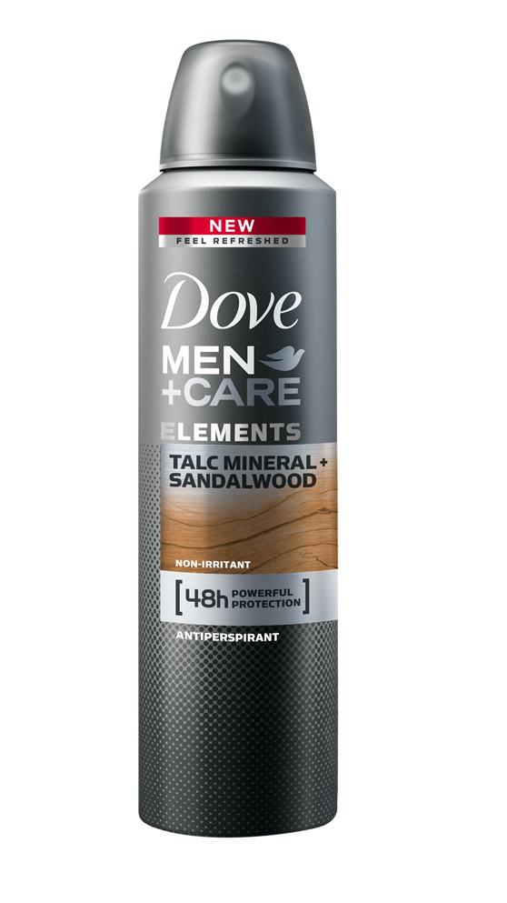 Dove Men+Care Elements Minerals & Sandalwood antiperspirant sprej pro muže 150 ml