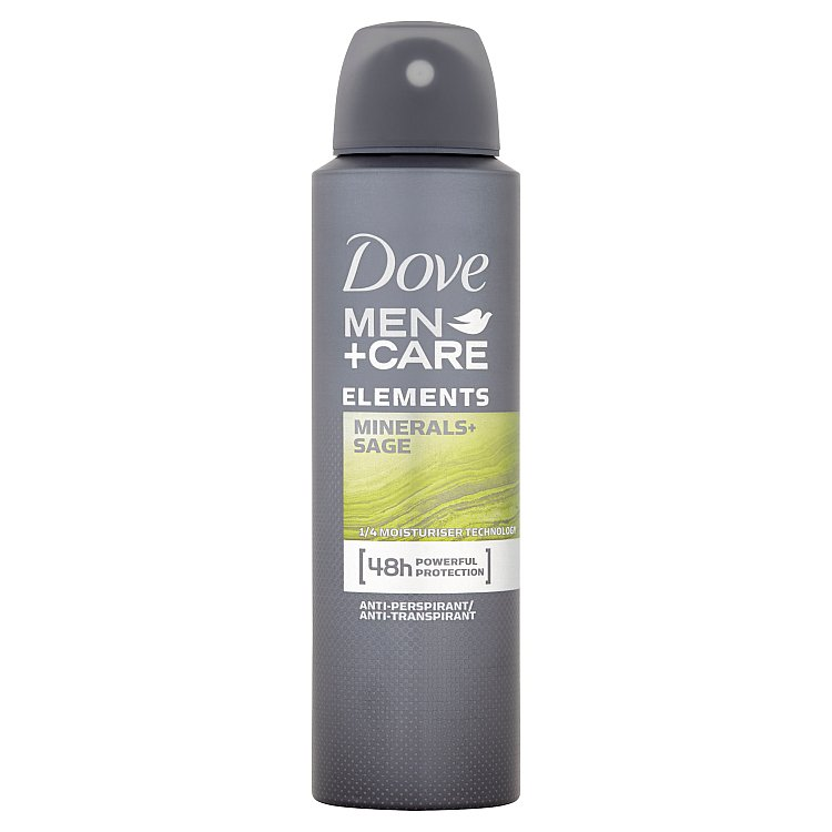 Dove Men+Care Elements Minerals & Sage antiperspirant sprej pro muže 150 ml