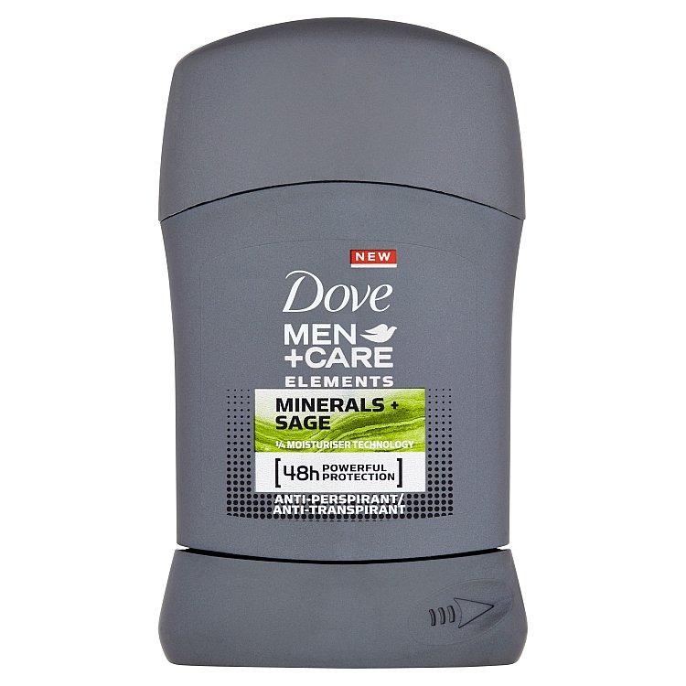 Dove Men+Care Elements Minerals & Sage tuhý antiperspirant pro muže 50 ml