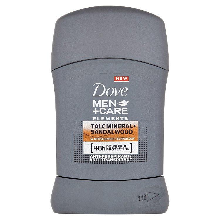 Dove Men+Care Elements Minerals & Sandalwood tuhý antiperspirant pro muže 50 ml