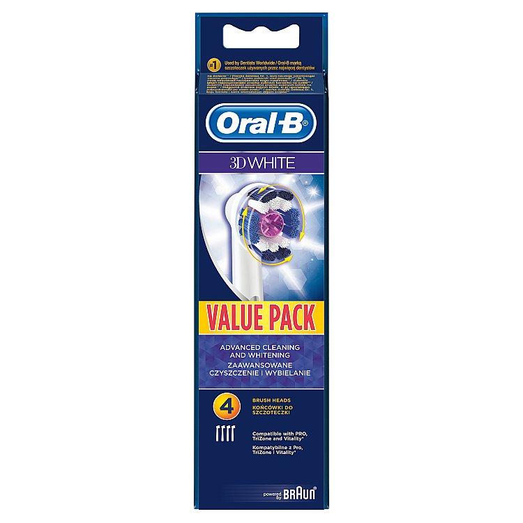 Oral B náhradní kartáčkové hlavice 3D White EB18 4 ks