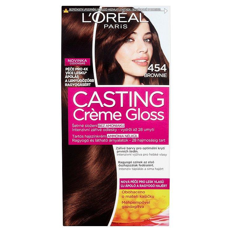 Fotografie L'Oréal Paris Casting Crème Gloss barva na vlasy 454 Brownie