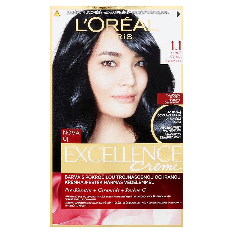L'Oréal Paris Excellence Creme permanentní barva na vlasy 1.1 Temně černá