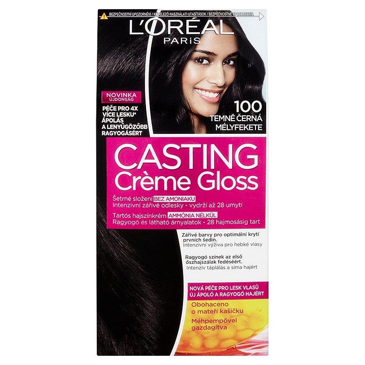 L'Oréal Paris Casting Crème Gloss barva na vlasy 100 Temně černá