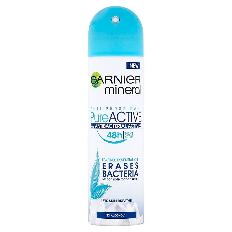 Fotografie Garnier Mineral Pure Active minerální antiperspirant ve spreji 150 ml