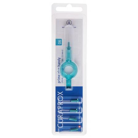 Curaprox Prime Plus Handy 06 držák + mezizubní kartáčky 5 ks 2,2 mm, modré