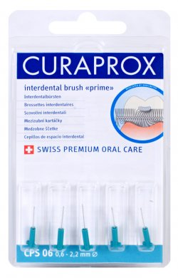 Fotografie Curaprox Prime Refill 06 náhradní mezizubní kartáčky 5 ks, 2,2 mm, modré