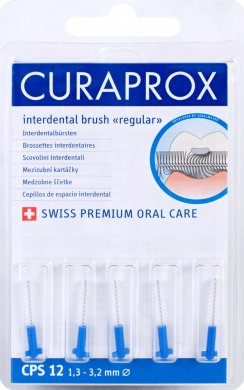 Fotografie Curaprox Regular Refill 12 náhradní mezizubní kartáčky 5 ks, 3,2 mm, modré