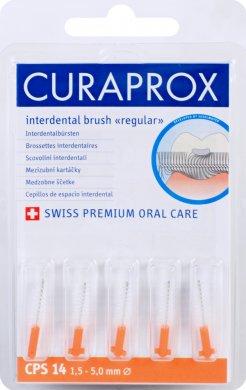 Curaprox Regular Refill 14 náhradní mezizubní kartáčky 5 ks, 5,0 mm, oranžové