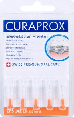 Curaprox Regular Refill 14Z náhradní mezizubní kartáčky 5 ks, 5,0 mm, oranžové
