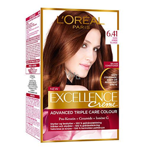 L'Oréal Paris Excellence Creme permanentní barva na vlasy 4.3 Hnědá zlatá