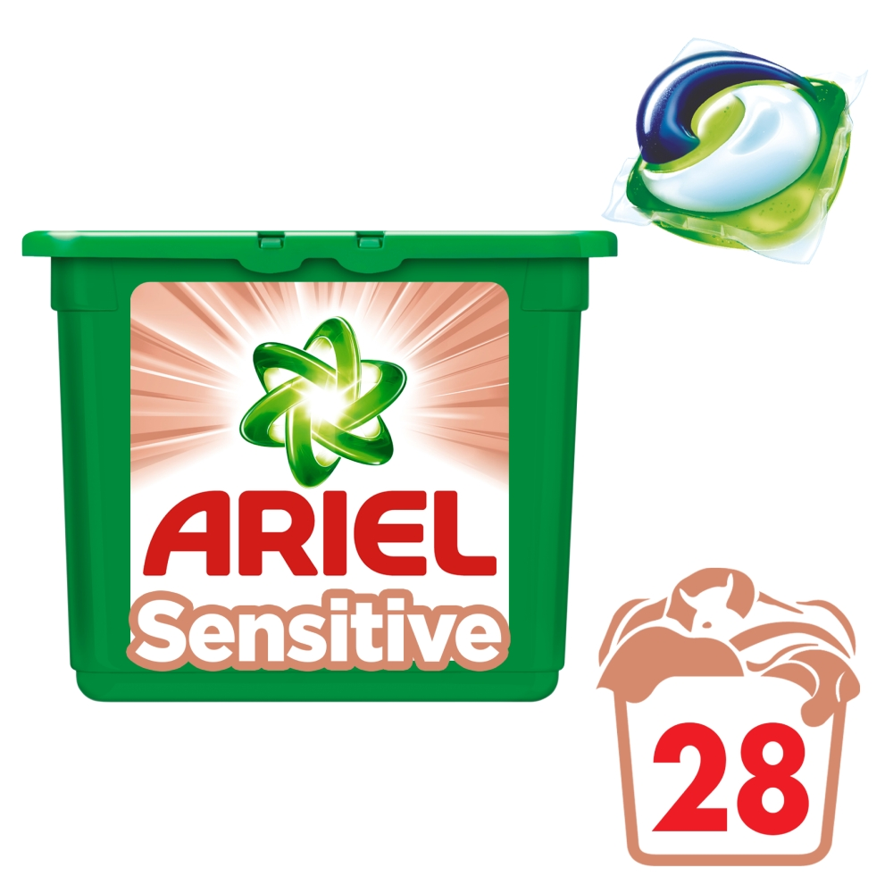 Ariel Sensitive gelové kapsle 28 ks