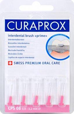 Curaprox Prime Refill 08 - 3,2 mm náhradní katáčky růžový, 5 ks