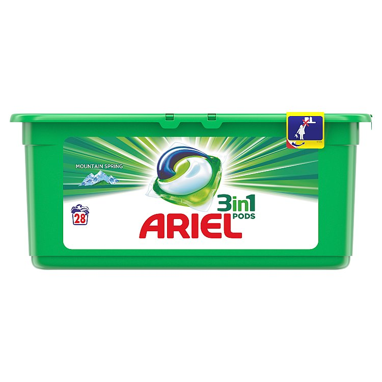 Ariel Mountain Spring gelové kapsle 28 ks