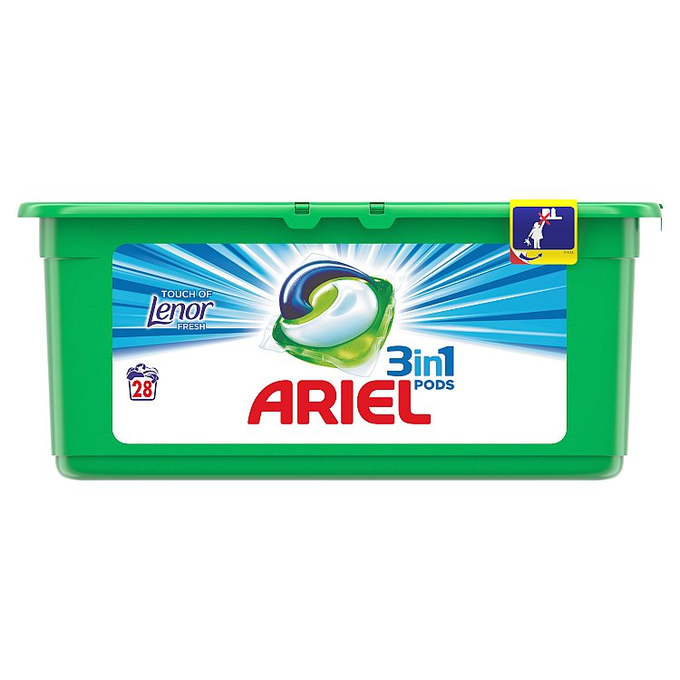 Ariel Touch of Lenor gelové kapsle 28 ks
