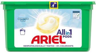 Ariel 3v1 Sensitive gelové kapsle, 14 praní 14 ks