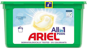Ariel All in 1 Pods Sensitive kapsle na praní 14 ks