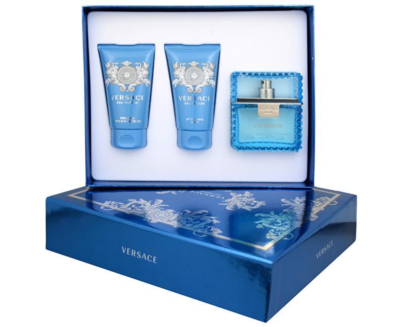 Versace Eau Fraiche Man EDT + sprchový gel + balzám po holení 50 ml + 50 ml + 50 ml