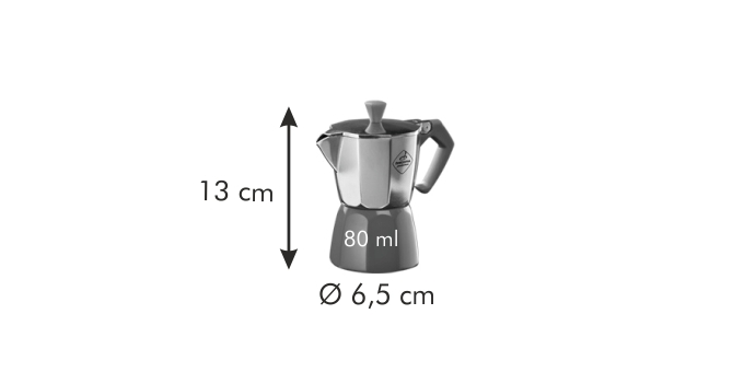 Tescoma PALOMA Colore kávovar 1 šálek, červená