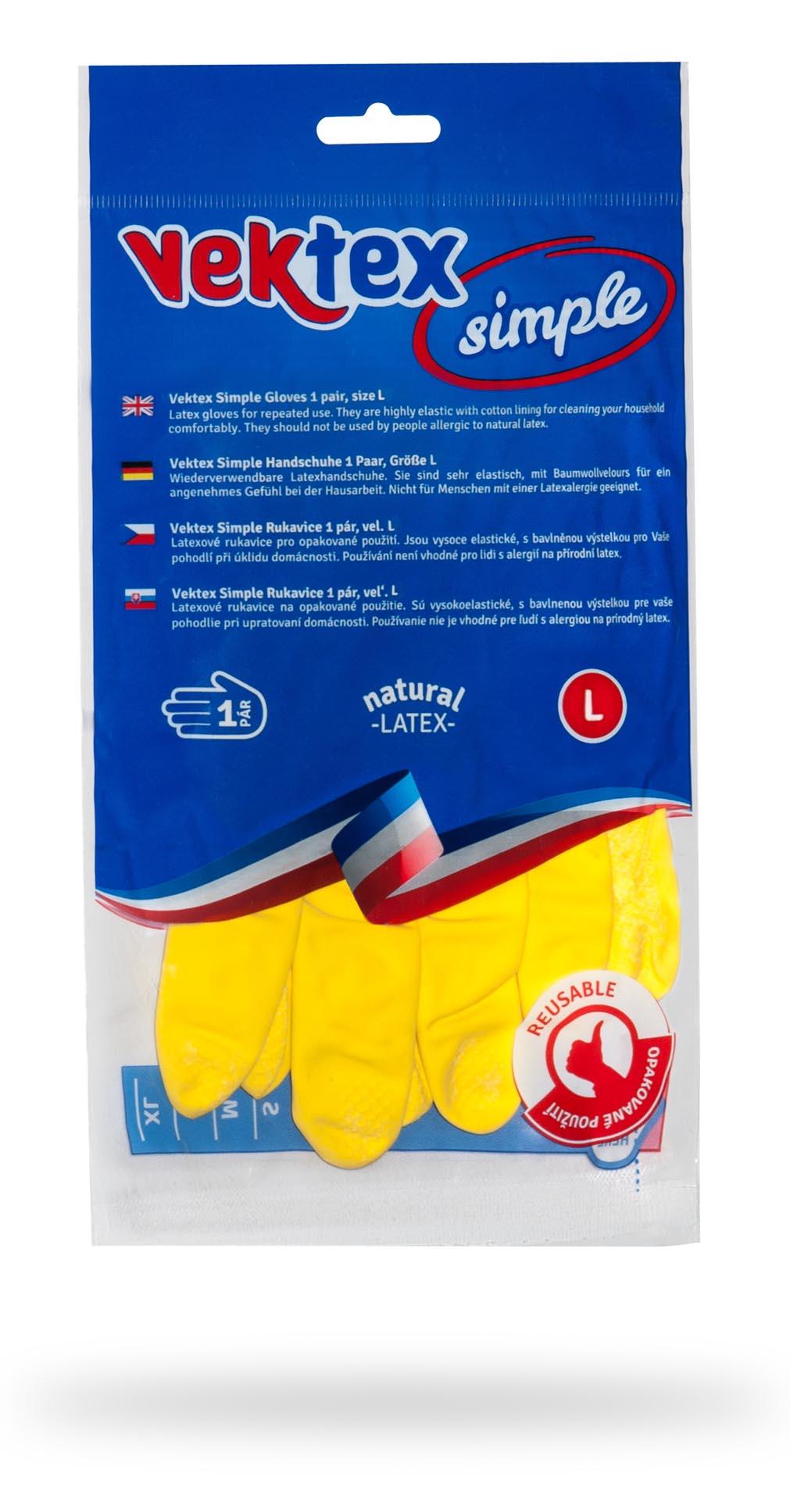 Vektex Simple rukavice vel. L, 1 pár