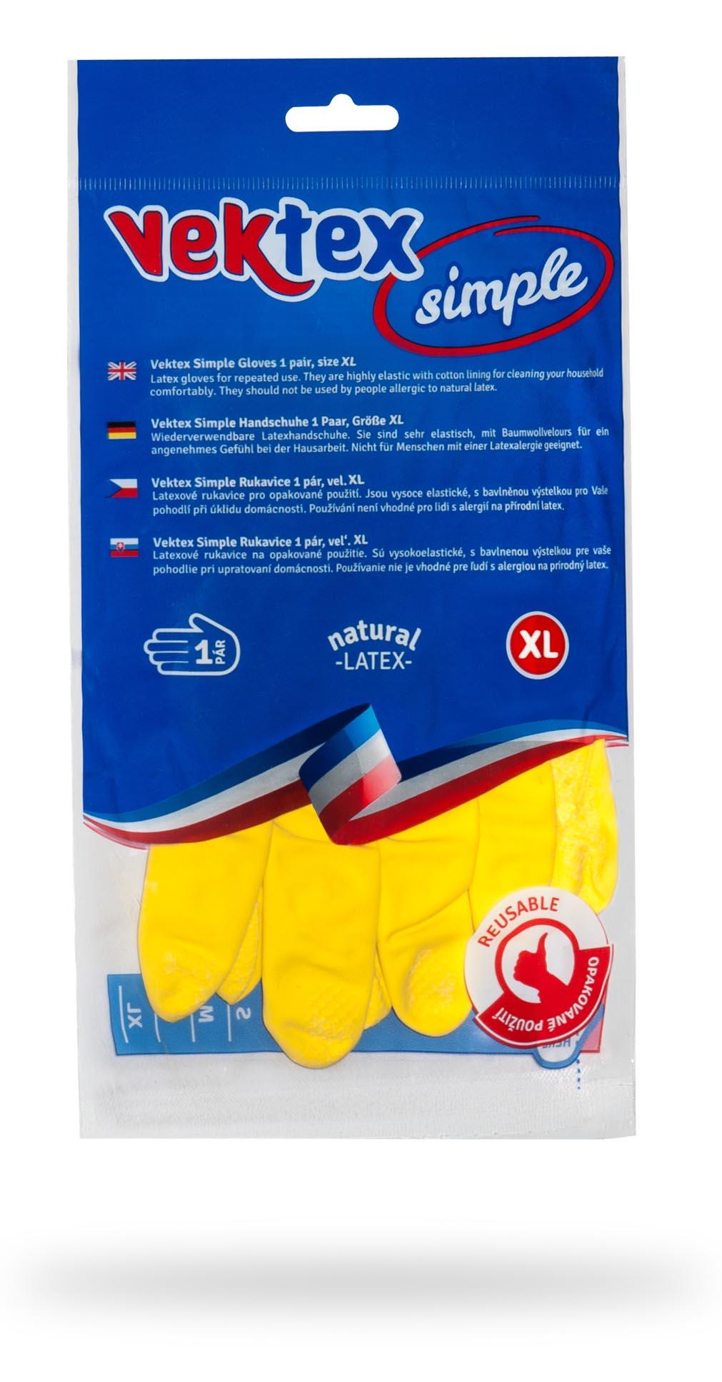 Vektex Simple rukavice vel. XL, 1 pár