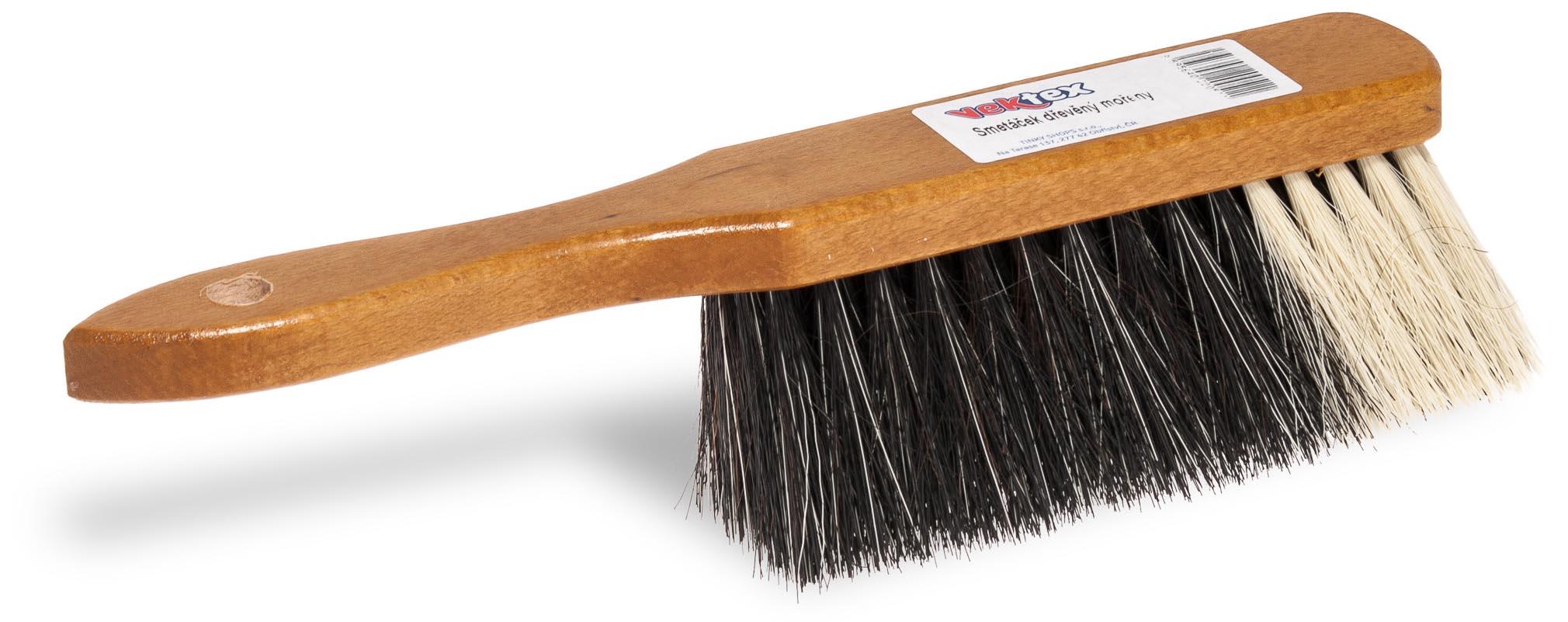 Vektex dřevěný smetáček mořený