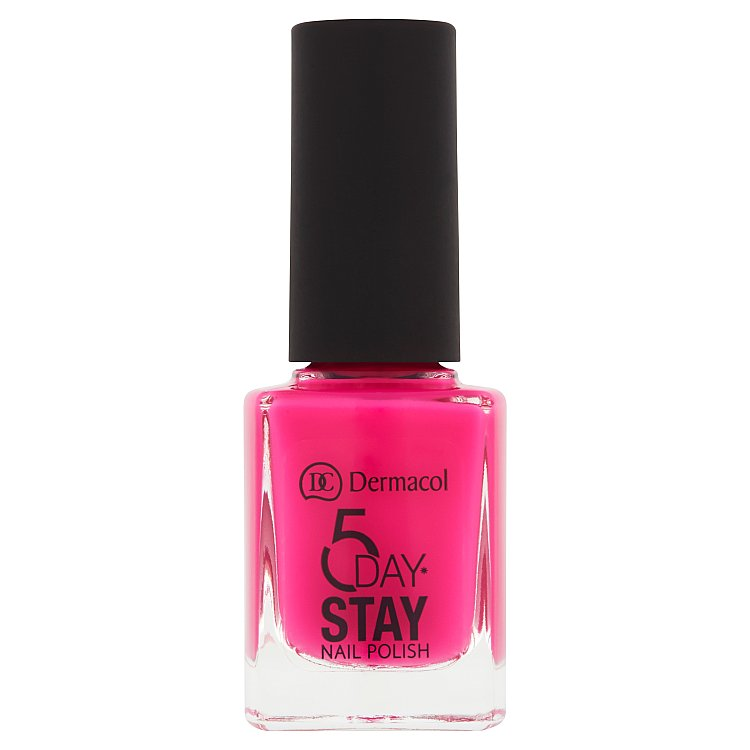 Fotografie Dermacol 5 Day Stay dlouhotrvající lak na nehty č.17 Pink Affair, 11 ml