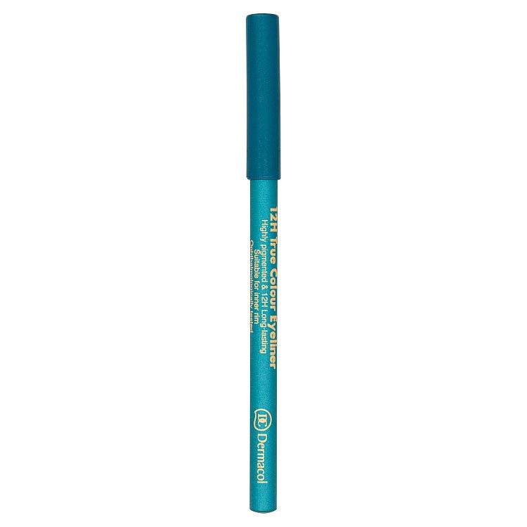 Dermacol dřevěná tužka na oči 12H č.1 Turquoise, 2 g