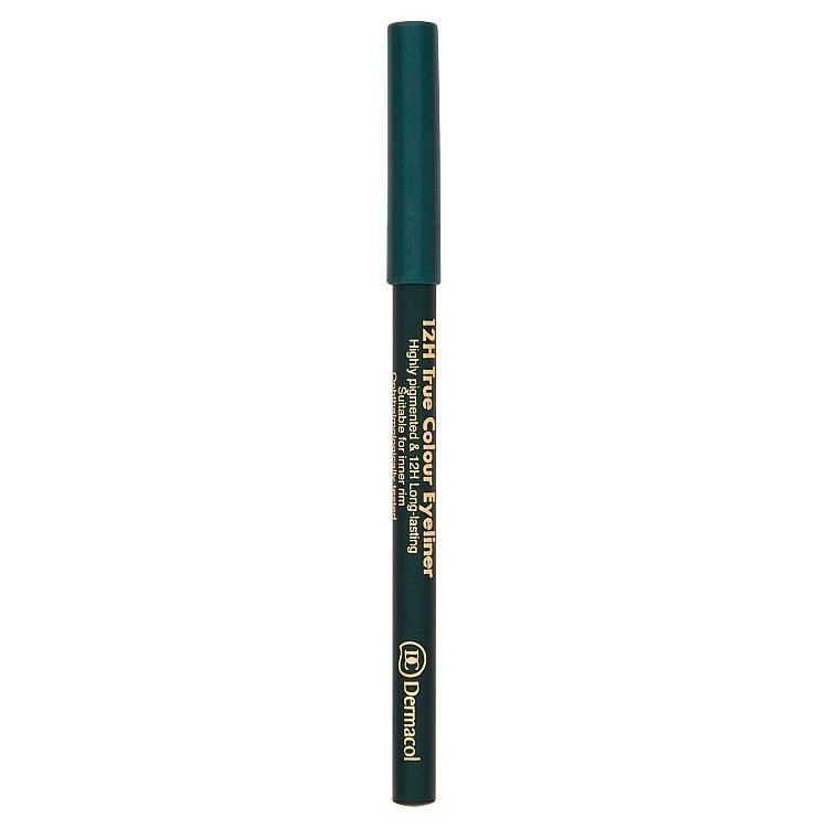 Dermacol dřevěná tužka na oči 12H č.5 - Green, 2 g