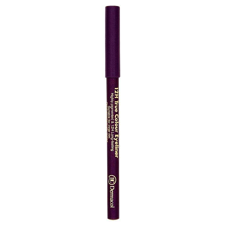 Dermacol dřevěná tužka na oči 12H č.3 Purple, 2 g