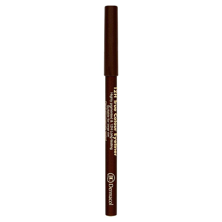 Dermacol dřevěná tužka na oči 12H č.4 - Light Brown, 2 g
