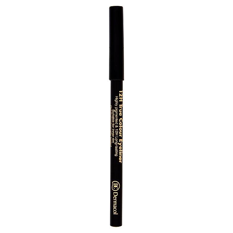 Dermacol dřevěná tužka na oči 12H (True Colour Eyeliner) 2 g č.8 - Black, 2 g