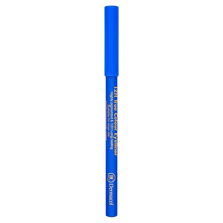 Dermacol dřevěná tužka na oči 12H č.2 Electric Blue, 2 g