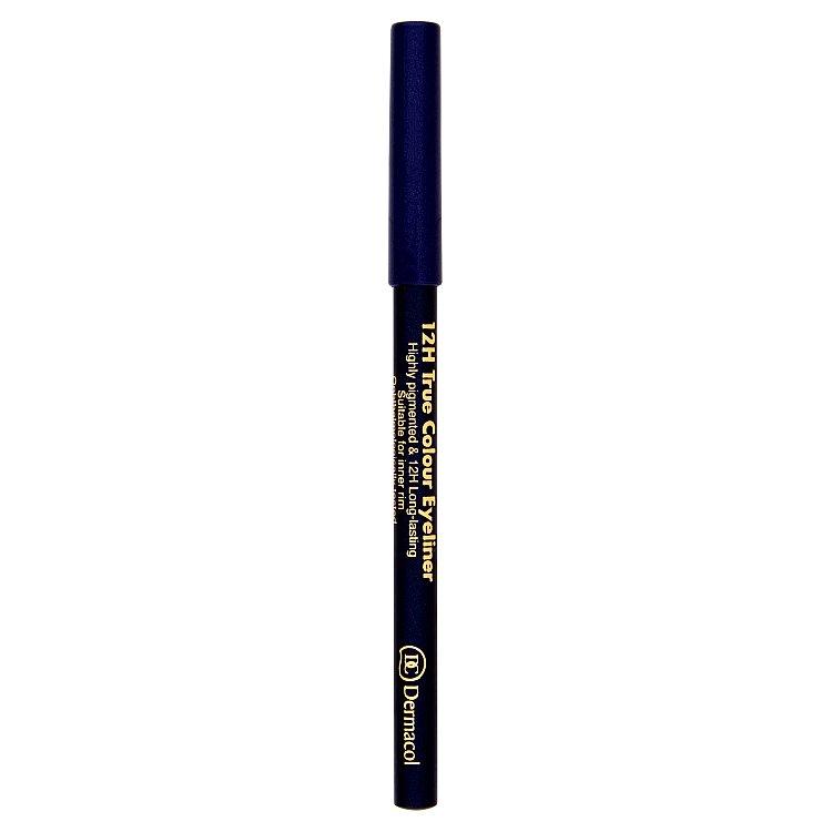 Dermacol dřevěná tužka na oči 12H č.7 - Grey, 2 g