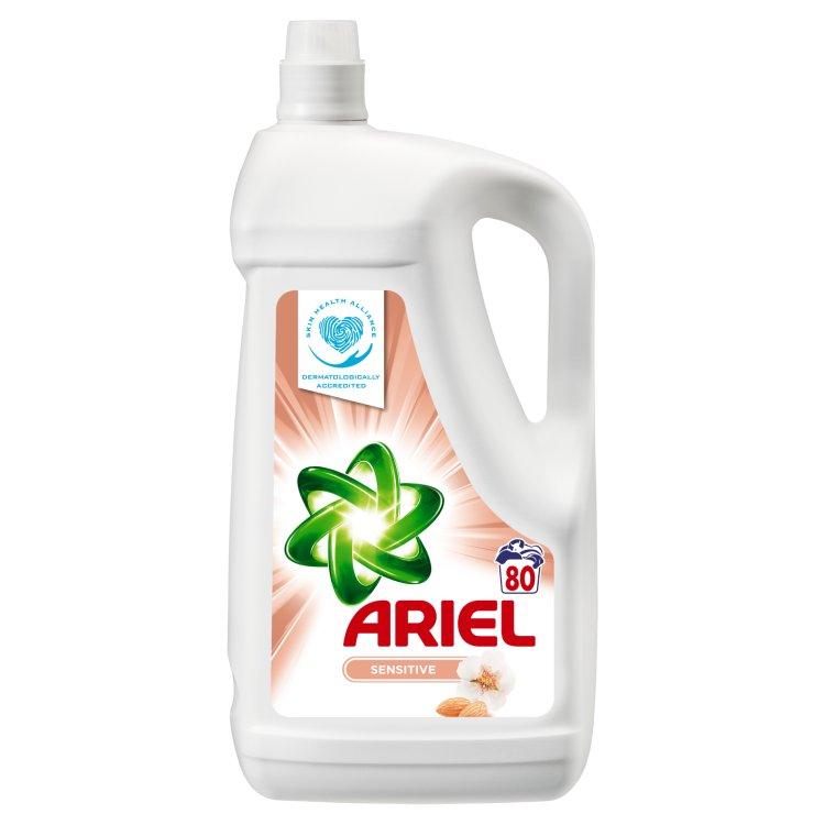 Ariel Sensitive tekutý prací prostředek 80 praní 5,2 l