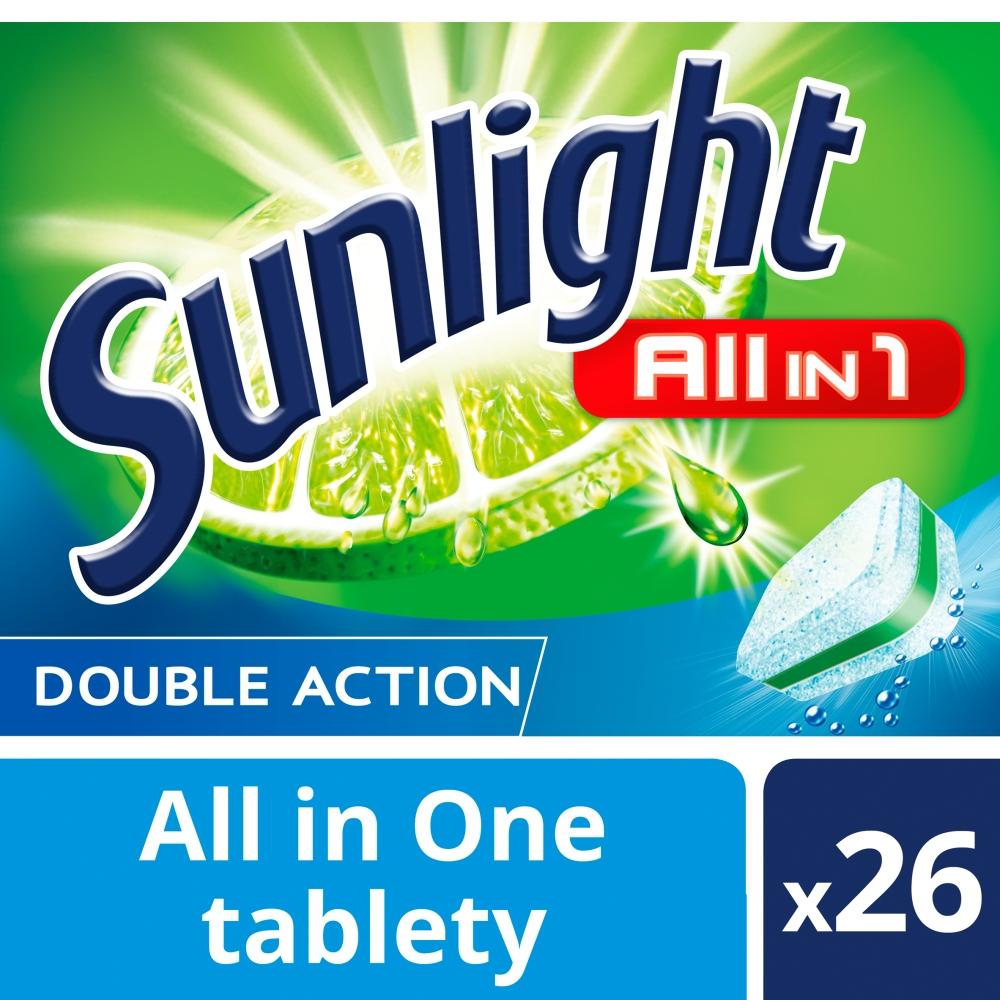 Sunlight All in 1 Tablety do myčky nádobí 26 ks